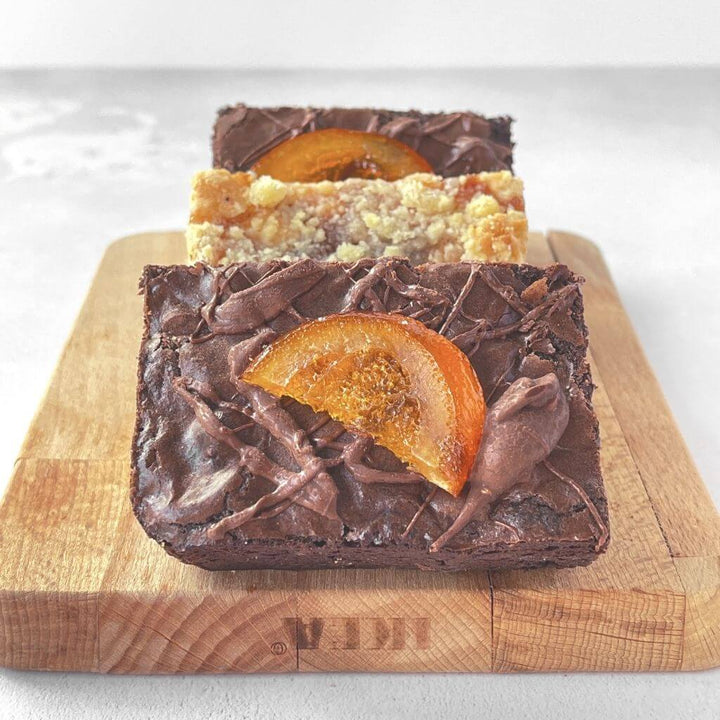 Chocolate Orange Brownie & Caramel Apple Crumble Blondie Mixed Box Brownies by Post