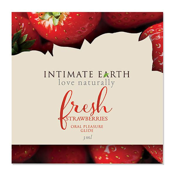Oral Pleasure Glide Fresh Strawberries Foil 3 ml Intimate Earth 6561