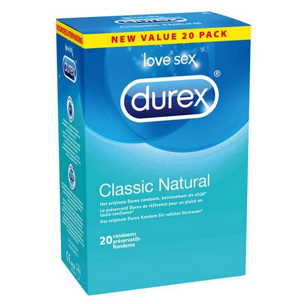 Classic Natural Condoms 20 pcs Durex 45154