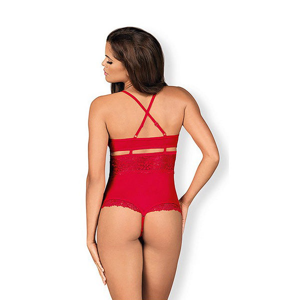 Leotard Open Crotch Obessive 838-TED-3 Red