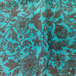 "Silk stole ""SARASA"" mint green"