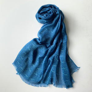 "Silk stole ""SHARK"" blue"