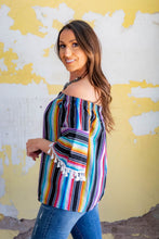 Load image into Gallery viewer, Purple Serape Off Shoulder blouse