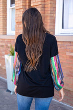 Load image into Gallery viewer, Blouse with Serape Sequin Sleeve