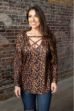 Load image into Gallery viewer, Leopard  Cageline Blouse