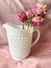 Load image into Gallery viewer, Milk Glass Hobnail Pitcher and Set of 6 Glasses