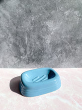 Load image into Gallery viewer, Blue Ceramic Soap Dish