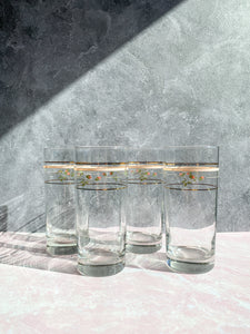 Floral Highball Glasses - Set of 4