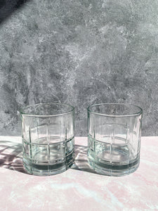 Tartan Rocks Glasses - Set of 2