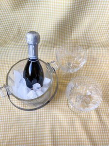 Vintage Silver & Glass Ice Bucket
