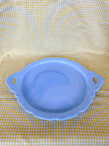 Periwinkle Platonite Milk Glass Tray