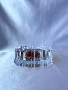 'Straw Flower' Brutalist Chunky Glass Ashtray