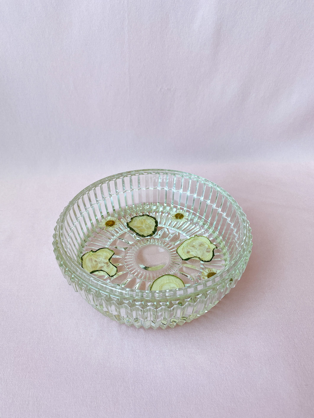 'Cucumber and Chamomile' Crystal Candy Dish