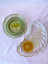 Load image into Gallery viewer, 'Orange and Fern I' Italian Glass Crescent Dish