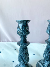 Load image into Gallery viewer, Marble Candlesticks - A Pair