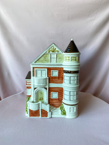 1982 Victorian Home Cookie Jar