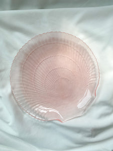 Pink Glass Shell Plate