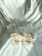 Load image into Gallery viewer, Blush Pink Wine Glasses - Set of 5