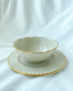 Small Cream & Gold Bowl