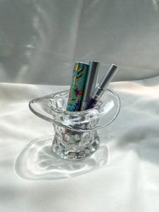 Glass Hat Trinket Holder