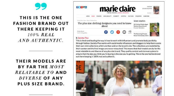 As Seen In: Marie Claire – Society Plus