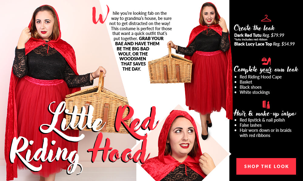 Plus Size Little Red Riding Hood Costume Society Plus