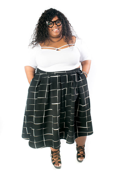 Plus Size Clothing for Women - The Kate Midington - Black Windowpane - Society+ - Society Plus - Buy Online Now! - 5