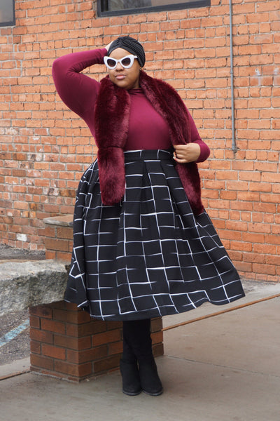Plus Size Clothing for Women - The Kate Midington - Black Windowpane - Society+ - Society Plus - Buy Online Now! - 1