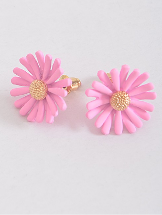 Daisy Studs Earrings - Pink