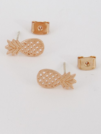 Pina Colada Stud Earrings - Rose Gold