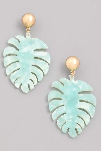 Tropical Breeze Earrings - Ocean Water
