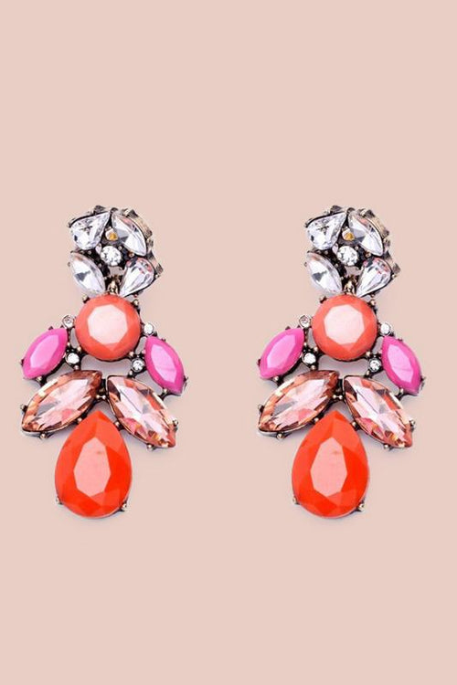 Audrey Multicolor Droplet Earrings