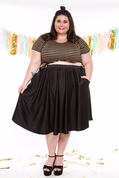 Plus Size Clothing for Women - Birthday Stripes Tee - Bronze - Society+ - Society Plus - Buy Online Now! - 4