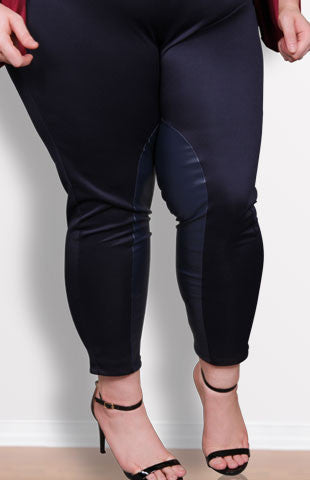 Plus Size Clothing for Women - Society+ Riding Pants - Navy - Society+ - Society Plus - Buy Online Now!