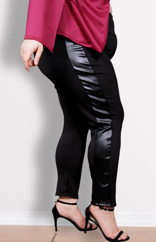 Plus Size Clothing for Women - Tuxedo Leggings - Black - Society+ - Society Plus - Buy Online Now! - 1