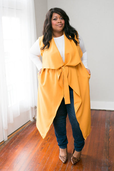 Plus Size Clothing for Women - Chicest Of Them All Vest - Mustard - Society+ - Society Plus - Buy Online Now! - 5