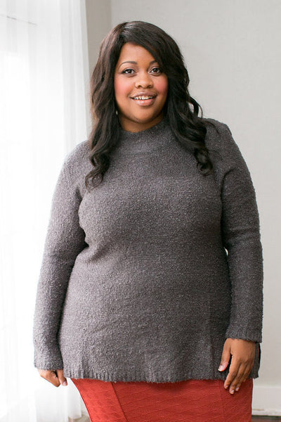 Plus Size Clothing for Women - Warm Hartley Sweater - Charcoal - Society+ - Society Plus - Buy Online Now! - 1