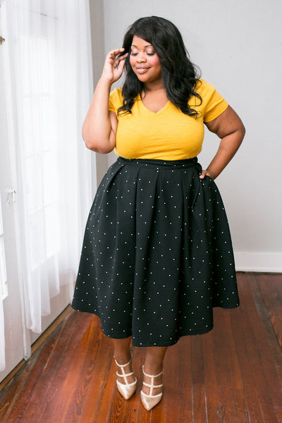 Plus Size Clothing for Women - The Kate Midington - Black Polka-Dot - Society+ - Society Plus - Buy Online Now! - 4