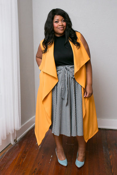 Plus Size Clothing for Women - Chicest Of Them All Vest - Mustard - Society+ - Society Plus - Buy Online Now! - 6