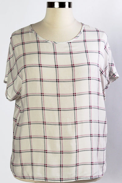 Plus Size Clothing for Women - Country Skylight Top - Ivory/Magenta - Society+ - Society Plus - Buy Online Now! - 2