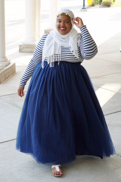Plus Size Clothing for Women - Society+ Long Tutu - Navy - Society+ - Society Plus - Buy Online Now! - 3