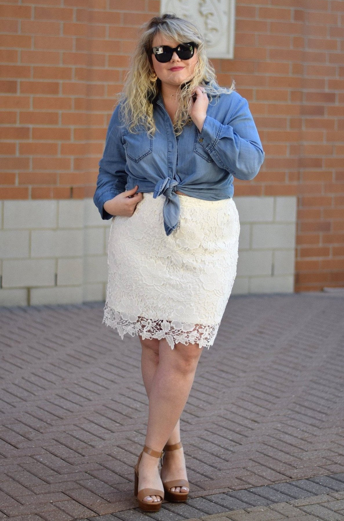 Anne Lace Skirt - White...