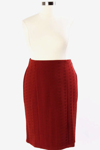 Plus Size Clothing for Women - Fearless Leader Pencil Skirt - Rust - Society+ - Society Plus - Buy Online Now! - 1