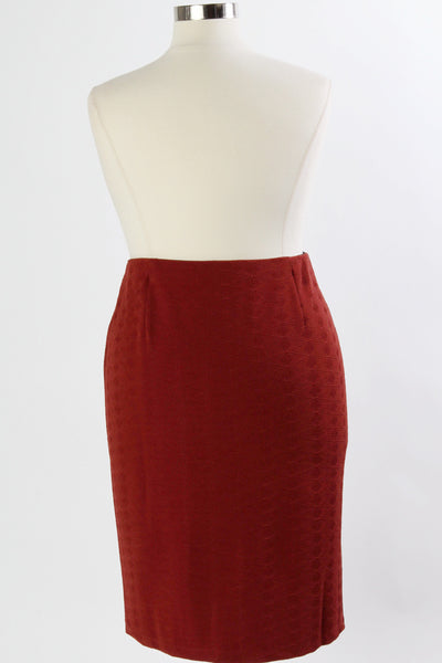 Plus Size Clothing for Women - Work It Pencil Skirt - Burgundy - Society+ - Society Plus - Buy Online Now! - 3