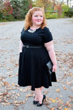 Plus Size Clothing for Women - Waverly Street Damask Skater Dress - Black-Hold for Stitch Fix - Society+ - Society Plus - Buy Online Now! - 1