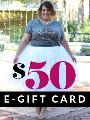Plus Size Clothing for Women - $50 Gift e-Card - Society+ - Society Plus - Buy Online Now!