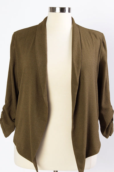 Plus Size Clothing for Women - Hadlee Structured Blazer - Olive - Society+ - Society Plus - Buy Online Now! - 2