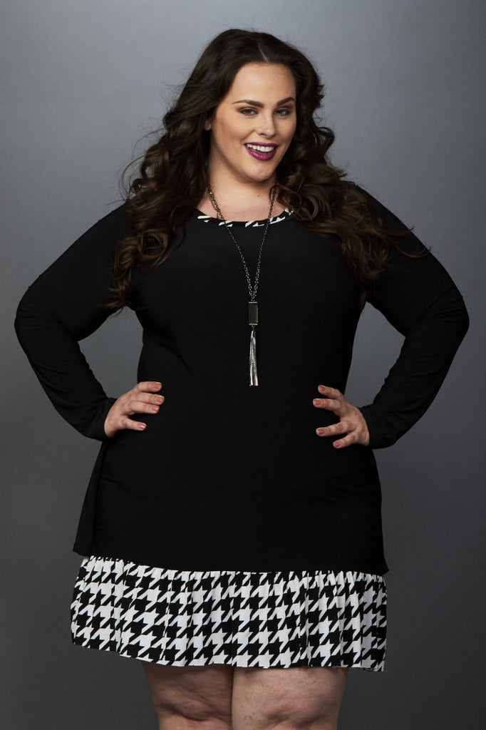 Plus Size Clothing for Women - Isobel Houndstooth Dress - Society+ - Society Plus - Buy Online Now! - 1