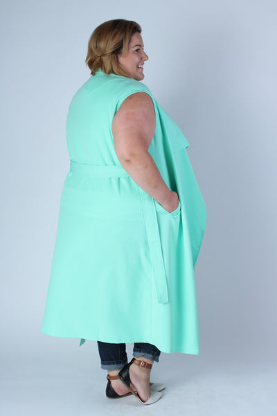 Plus Size Clothing for Women - Chicest Of Them All Vest - Mint - Society+ - Society Plus - Buy Online Now! - 2