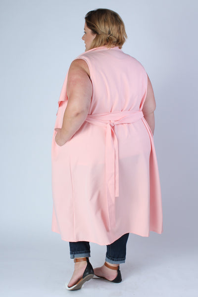 Plus Size Clothing for Women - Chicest Of Them All Vest - Pink - Society+ - Society Plus - Buy Online Now! - 2